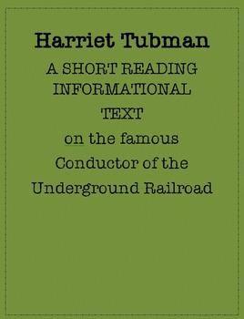 Reading Informational Text: Harriet Tubman