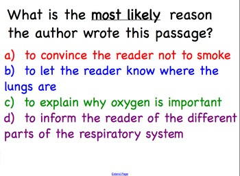 Reading Informational Text Health