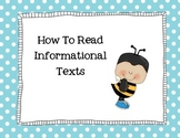 Reading Informational Text How To Booklet