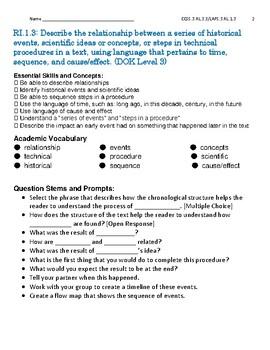 Reading Informational Text RI.3.3