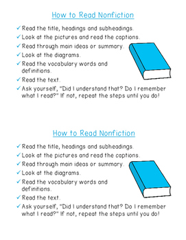 Reading Informational Text - Student Checklist {ELA nonfiction comprehension}