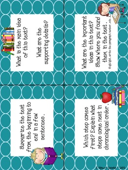 Reading Informational Text Task Cards (24) and Passages (5) {Grades 3-5}