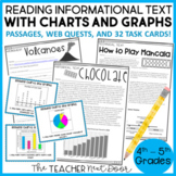 Reading Informational Text with Charts and Graphs for 4th - 5th Grade