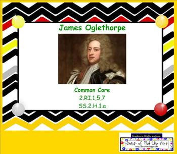 Reading Informational Texts James Oglethorpe Biography for Common Core