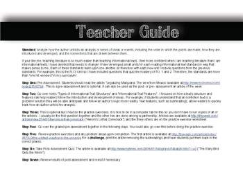 Information Texts (R.I.9-10.3)Modern Issues, 3-Day Lesson Plan OR Article Bundle