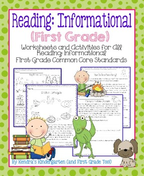 Reading: Informational Worksheets/Activities - First Grade Common Core