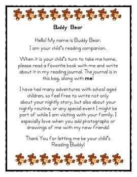 Reading Insentive - Buddy Bear