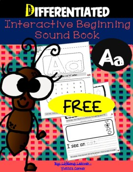 "(FREEBIE) Reading Interactive Beginning Sound ""A"" Book"