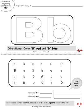 "Reading Interactive Beginning Sound ""B"" Book ** 2 FOR THE PRICE OF 1**"