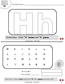 """Reading Interactive Beginning Sound """"H"""" Book ** 2 FOR THE PRICE OF 1**"""