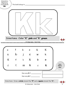 """Reading Interactive Beginning Sound """"K"""" Book ** 2 FOR THE PRICE OF 1**"""