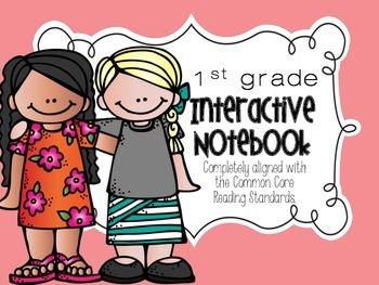 Reading Interactive Notebook {1st grade} Common Core aligned