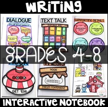 Writing Interactive Notebook Grades 4-8