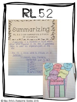 Interactive Reading Notebook - 5th Grade - Common Core Aligned