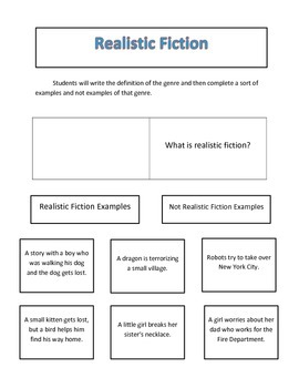 Genres Interactive Reading Notebook Pages
