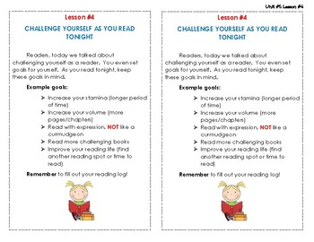 Reading Interactive Notebook - Lesson #4 - Homework