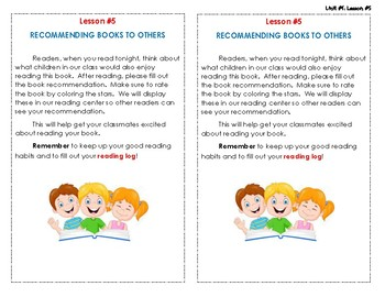 Reading Interactive Notebook - Lesson #5 - Homework