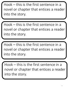 Reading Interactive Notebook: Literature Activities/Literary Elements EDITABLE