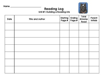 Reading Interactive Notebook - Reading Log for Home
