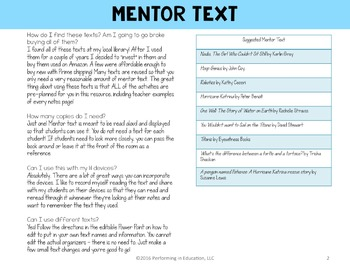 Reading Interactive Notebook Third Grade Informational CCSS EDITABLE