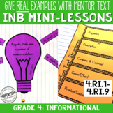 Interactive Notebook with Mini Lessons - 4th Informational Common Core Standards