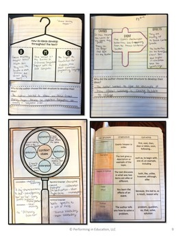 Reading Interactive Notebook with Mini Lessons - 6th Informational Standards