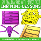 Reading Interactive Notebook with Mini Lessons ENTIRE YEAR Bundle 4th CCSS