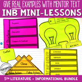 Reading Interactive Notebook with Mini Lessons ENTIRE YEAR Bundle 5th CCSS