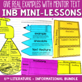 Reading Interactive Notebook with Mini Lessons - ENTIRE YEAR 6th Grade CCSS