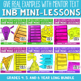 Reading Interactive Notebooks with Mini Lessons - ENTIRE YEAR 4th 5th 6th CCSS