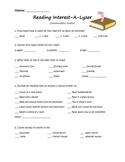 Reading Interest-A-Lyzer (Intermediate)