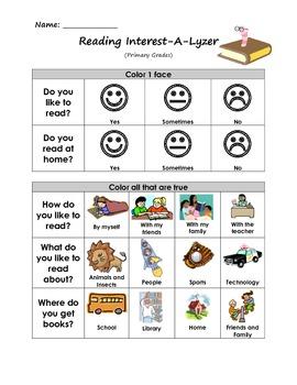 Reading Interest-A-Lyzer (Primary)
