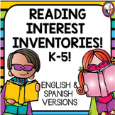 Reading Interest Inventories! K-5 English and Spanish