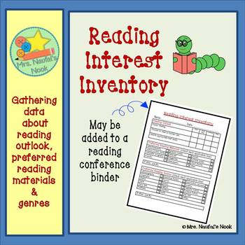 Reading Interest Inventory - Freebie