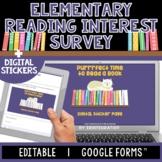 Reading Interest Inventory   Digital Sticker Survey   Edit