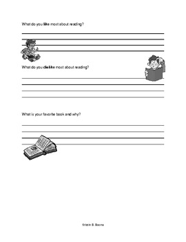 Reading Interest Inventory (Upper Elementary)