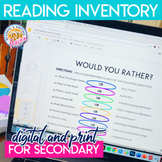 Reading Interest Inventory for High School to Use with Choice Reading