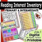 Reading Interest Inventory / Reading Survey for Elementary