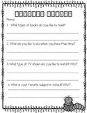 Reading Interest Survey FREEBIE