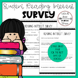Back to School Student Reading Interest Survey