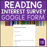 Reading Interest Survey - Digital in Google Forms