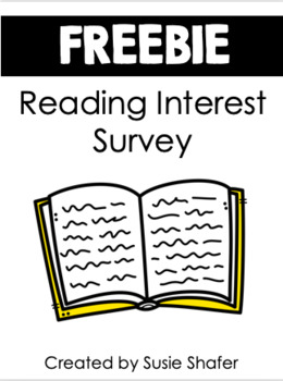 Reading Interest Survey (UPDATED and EDITABLE)