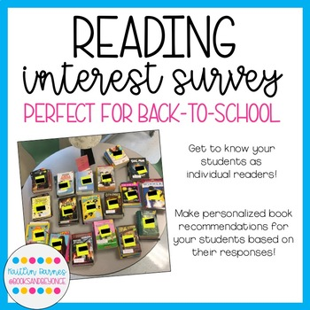 Reading Interest Survey: Get to know your students as readers!