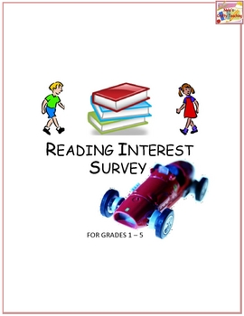 Reading Interest Survey - Unisex - Quick and Easy - Simply Tick