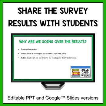 Reading Interest Survey (middle school, editable)