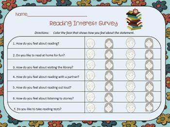 Reading Interest Survey...Kid Friendly!
