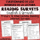 Reading Interest Surveys for Primary & Intermediate in English & Spanish