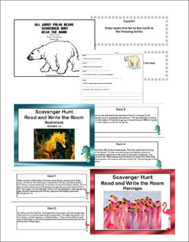 Reading-Interesting Animals-Scavenger Hunt