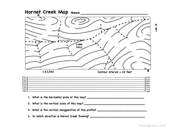 Label Contours & Drawing Profiles: Hornet Creek Map- MidnightStar