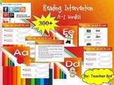 Reading Intervention 300+ Word List A-Z with Menu RF 4.3
